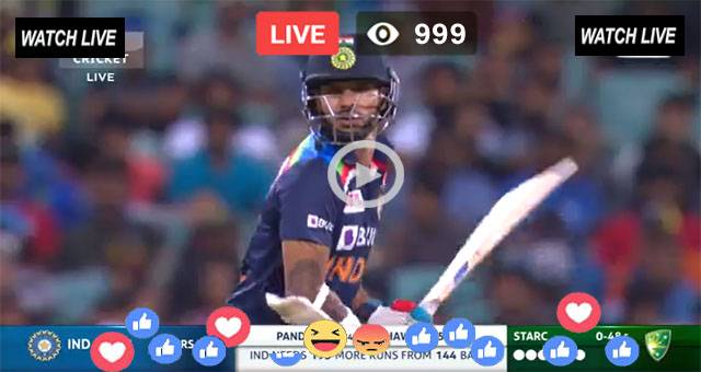 India vs Aus Live Streaming Match 3rd T20